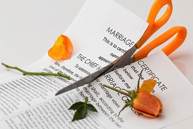 How is marital property divided in Texas